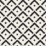 Vector Seamless Black And White Hand Painted Line Corner Shape Pattern