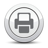 Printer Vector icon. silver icon