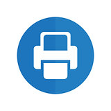 Printer Vector icon. blue icon
