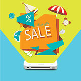 Sales of goods through the mobile device