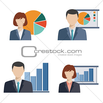 Business people doing presentation