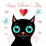 funny kitten in love