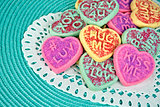 Valentine heart sugar cookie