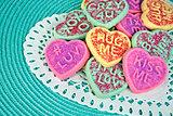 Valentine heart sugar cookie