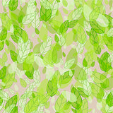seamless background with green leaves