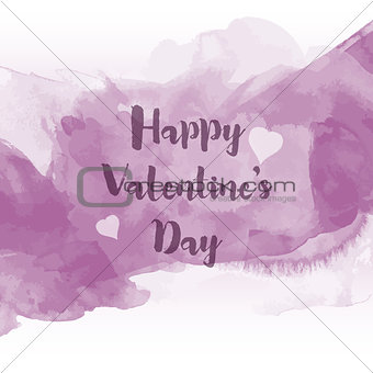 Watercolour Valentine's Day background