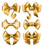 Six gold bows