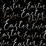 Happy Easter calligraphy write with brush pen