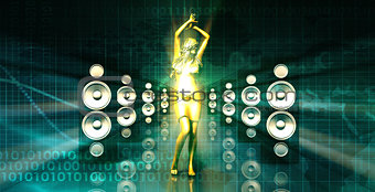 Abstract Music Dance Background