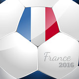 Soccer ball with france flag