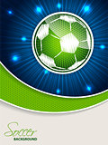 Abstract blue green soccer brochure template