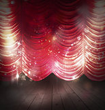 Red curtains theater
