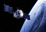 Satellite Deploys Solar Panels In Space