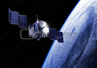 Satellite Deploys Solar Panels In Space