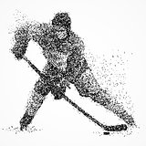 abstraction, hockey, ice, puck