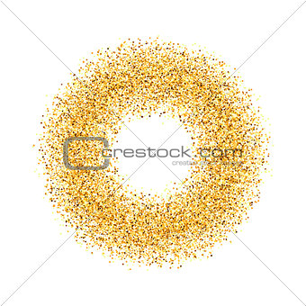 abstract, circle, gold, sand, dust, glitter