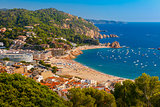 Tossa de Mar on the Costa Brava, Catalunya, Spain