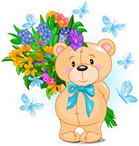 Bouquet from Teddy Bear