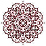 Mehndi, Indian Henna brown tattoo pattern or background