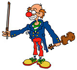Clown with a violin