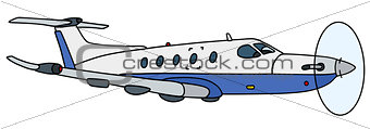 Small propeller airliner