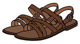 Leather woman's sandals
