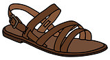 Leather woman's sandal