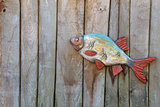 Fish made of wood