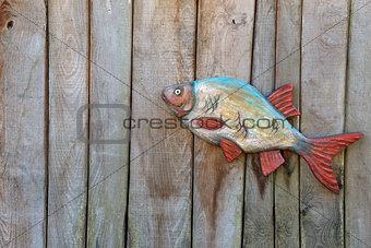 Fish made of wood