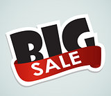 Big Sale Label Sign for Your Business. Vector Illustration