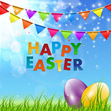 Spring Natural Happy Easter Background Vector Illustration