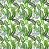 Palm Leaf. Seamless Pattern. Vector Illustration.