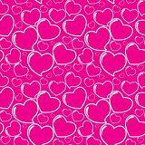 Heart Love Seamless Pattern Background Vector Illustration