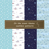 on the ocean seamless pattern