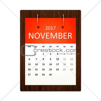 Calendar Planning German 2017