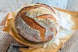 Wheaten homemade bread to leaven.