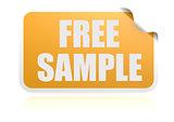 Free sample yellow sticker