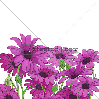 Bright floral background