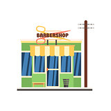 Barbershop Front. Vector Illustration