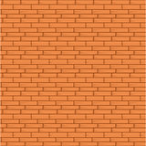 Orange Brick Wall Seamless Vector Illustration