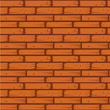 Red Brick Wall Seamless Vector Illustration