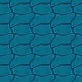 Blue Wavy Elements Texture Background. Vector Abstract Seamless