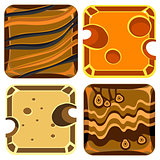 Different Materials and Textures for Game. Vector Collection