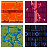 Textures for Platformers Icons Vector Set Games
