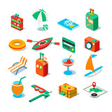 Travel, Tourism and Journey objects. Vector Illustration