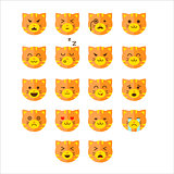 Simple cute cat emoticons