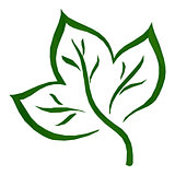 Leaf Green Low-Poly Pictogram