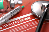 Diagnosis - Biliary dyskinesia. Medical Concept.