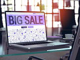 Big Sale Concept on Laptop Screen.