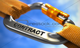 Chrome Carabiner with Text Contract.